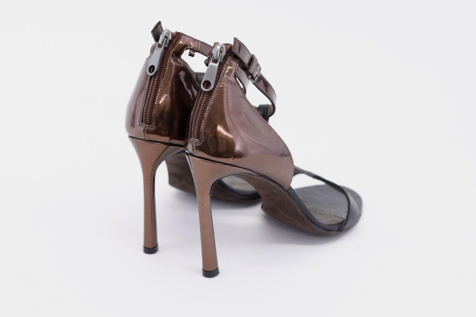 NWOB 2095 Brunello Cucinelli 2Tone Multi-Leather Beaded T-Strap Heel 37 37 37 7US A186 9bdb26
