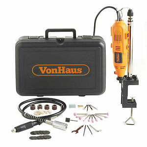 VonHaus Professional Rotary 135W Multi Tool with 40pc Accessory Set & Stand