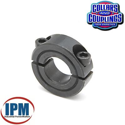 2-PACK 20MM Double Split 2-PC Clamp Shaft Collar Steel Black Oxide CCM202S NEW