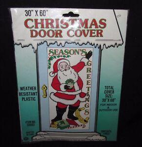 ... Vintage-Christmas-Door-Cover-Santa-Seasons-Greetings-30- & Vintage Christmas Door Cover Santa Seasons Greetings 30