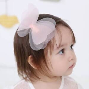 Kids-Girls-Children-Accessories-Headwear-Tulle-Bowknot-Hairpin-Hair-Clip-LY