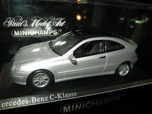 1-43-Minichamps-Mercedes-Benz-Clase-C-Coupe-2000-Silver-plata-nr-430030002-OVP