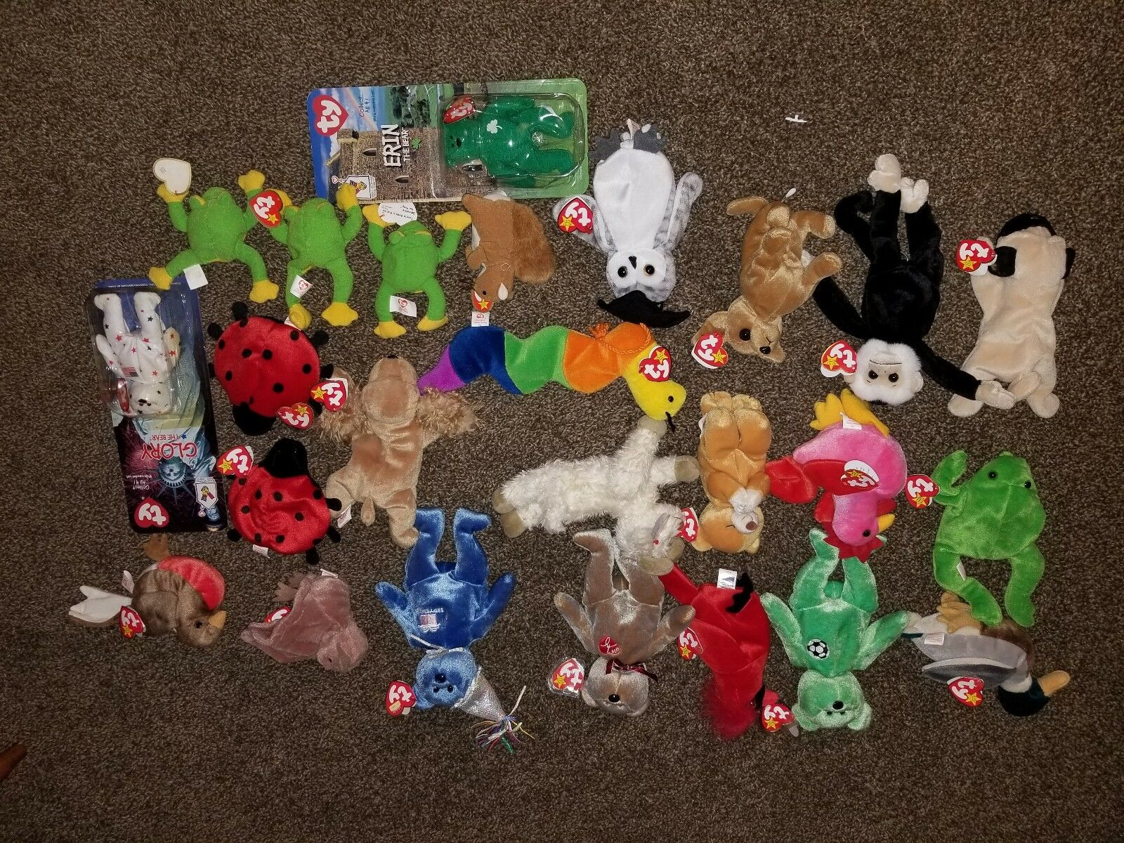 Ty Ty Ty beanie babies with errors rare 73f987