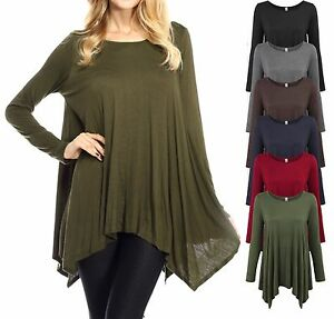 women new plus size women's casual asymmetrical tunic top