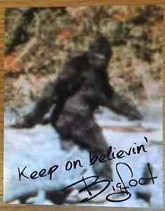 Bigfoot Signed 8x10 Photo with COA - Bigfoot Autograph - Funny Novelty Gag Gift