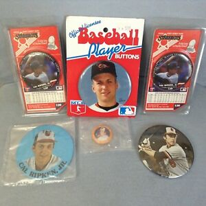 Cal-Ripken-Jr-Button-Lot-6-Hall-Of-Fame-Baltimore-Orioles-HOFer-Ironman