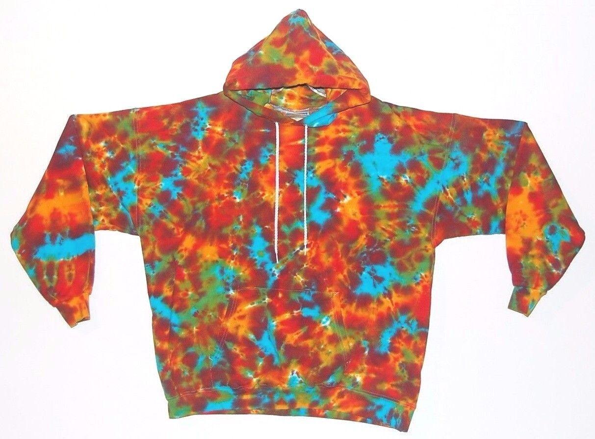 TIE DYE Hoodie Tribal Blotter Sweatshirt Sm M L XL 2X 3X grateful dead hippie