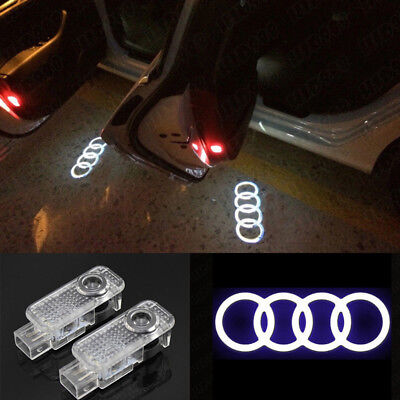 2x LOGO LED PUDDLE PROJECTOR GHOST DOOR LIGHTS FOR A3 S3 RS3 A4 A5 A6 Q5 Q7 TT