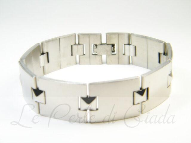 Bracciale CALGARY Uomo Acciaio Inox Stainless Steel Bracelet Urban Lifestyle