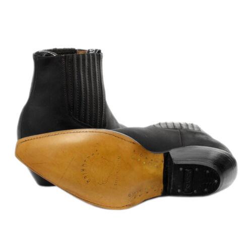 e cowboy con in nero pelle tallone cavallino stivali chelsea di da sul cinturino Stivaletti vera 85x77q
