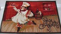 Fat Chef Printed Nylon Rug (nonskid Back) (18 X 30) Running W/plate Chef