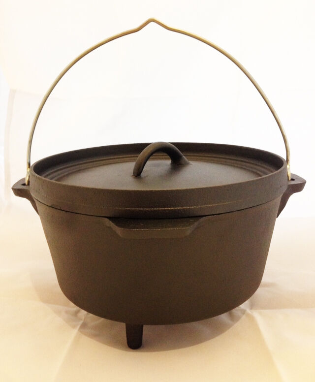 Nomad 4.25 Litre Cast Iron  Dutch Oven for Bushcraft & Outdoor Camp Fire Cooking  factory direct and quick delivery