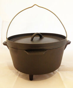 Nomad 4 25 Litre Cast Iron Dutch Oven For Bushcraft