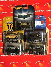 Hot Wheels 2015 Retro Entertainment Set of 5 Case J Taxi Batman Tumbler