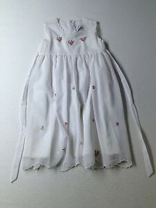 Girl-Fantaisie-Kids-White-Pink-Flowers-Holiday-Party-Easter-Dress-Size-6