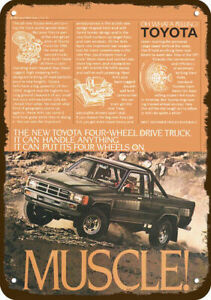 1984 TOYOTA SR5 4X4 Pickup Truck Vintage-Look-Edge DECORATIVE REPLICA METAL SIGN