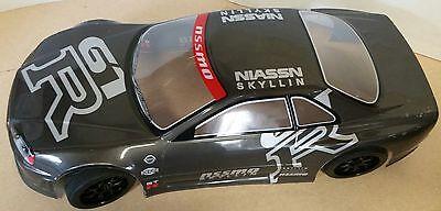 1/10 RC car 190mm on road drift Nissan GTR Body Shell w/spoilers Grey