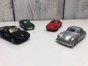 Lot-Of-Maisto-Porsche-Aston-Martin-911-Red-Green-Gray-Black-Used-Condition-1-64