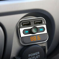 LCD Auto Bluetooth FM Transmitter Kit MP3 Musik Player Dual USB Ladegerät Handy