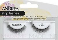 2 Pairs Andrea Modlash 14 False Eyelashes Strip Lashes Black 61923