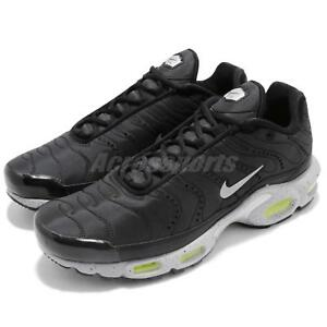 Details about Nike Air Max Plus PRM Black Silver Volt Men Running Shoes Sneakers 815994 003