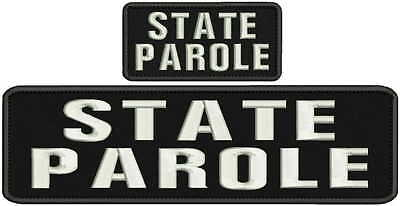 Parole embroidery patch 2x4 hook white