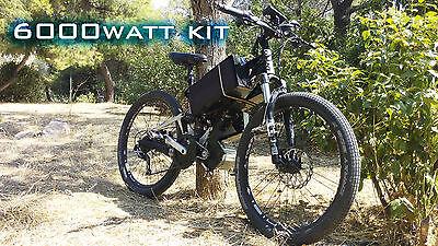 Fastest, Roadrunner 3pcs 6000 watt electric bike kit 48-88 volt speed 120km/h