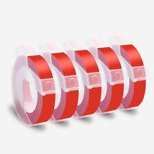 5 Pack Glossy Red Label Tape For Dymo 3d 9mm Embossing Label Maker Tape 38