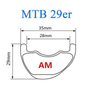 29er 35mm asymmetric rim 29inch MTB carbon rim mountain bicycle offset rim 1pc