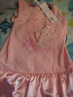 American Girl Pretty Pink Love Dress for Girls SZ 10  Ruffles Bow NWTS IMPERFECT