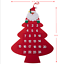 Large Felt Christmas Advent Calendar with Pockets Santa, Reindeer or Snowman