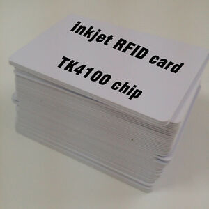 10pcs csf kontaktloses bezahlen karte tk4100 chip rfid karten inkjet pvc karte ebay. Black Bedroom Furniture Sets. Home Design Ideas