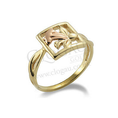 BRAND NEW Official Clogau Gold Yellow & Rose Gold St Davids Daffodil Ring SIZE T