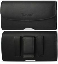 REIKO BELT CLIP LOOP LEATHER HOLSTER POUCH CASE FOR SAMSUMG GALAXY NOTE EDGE