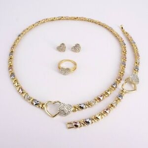 19-Hugs-amp-Kisses-Xo-Set-Multi-colors-Necklace-Bracelet-Earrings-Ring-Size-9
