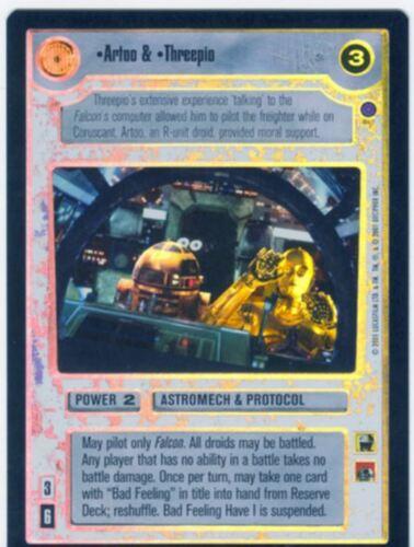 Star Wars CCG Reflections 3 III Foil Artoo /& Threepio
