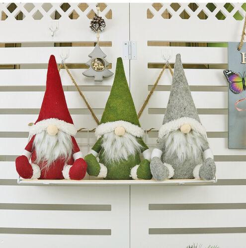 Santa Claus Plush Doll Gnome Christmas Cartoon Ornament Home Party Decor Gift UK