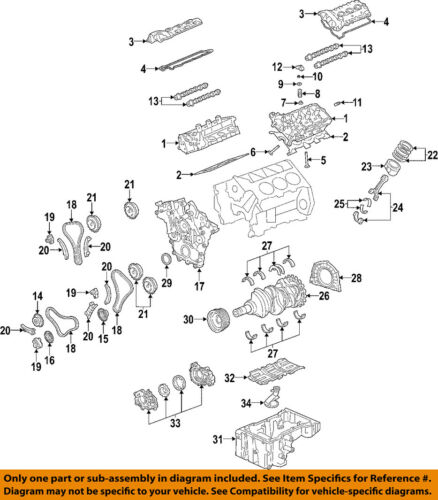 2007-2008 ENCLAVE TRAVERSE ACADIA 3.6 LEFT VALVE COVER NEW GM # 12647768