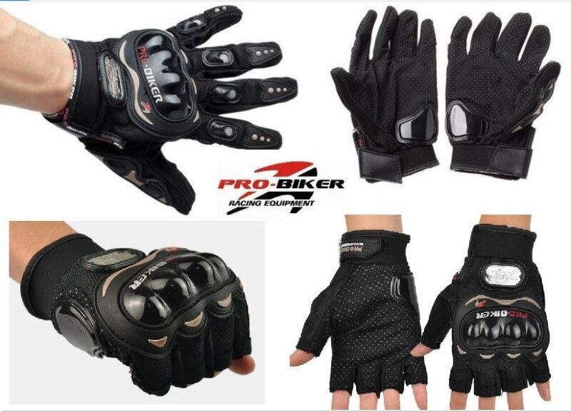 Brand New: Genuine Pro-Biker Gloves- Cycling / Motorcycling Gloves - Half size & Full Size (XL)