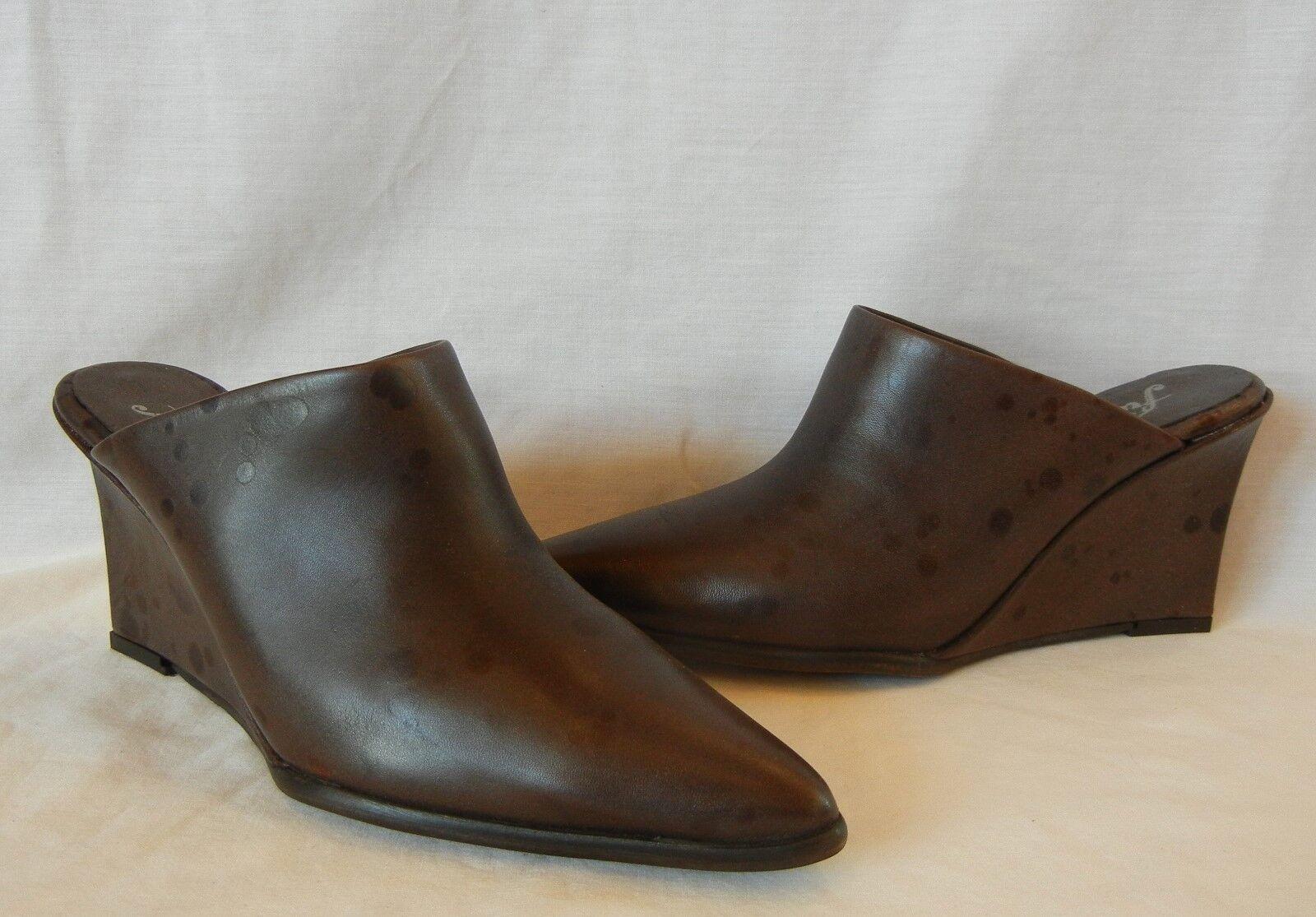 Free People Damenschuhe Galactica Leder Wedge Heel Heel Heel Mule Slides Retail 178 Größe 10 2e3ccd