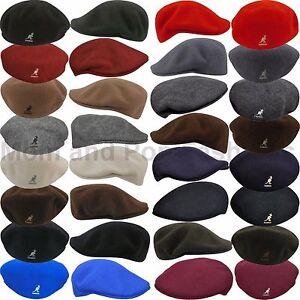 Authentic-Kangol-100-WOOL-504-Ivy-Cap-Hat-0258BC-S-M-L-XL-XXL-All-Sizes
