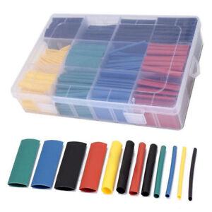 280pcs 8 sizes assorted 2 1 heat shrink tubing tube wrap sleeve wire rh ebay co uk