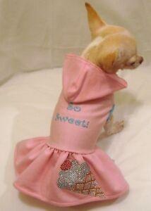 Dog-Dress-Dog-Hoodie-Dog-Clothes-So-Sweet-Ice-Cream-Dress-XS-S-M-L-FREE-SHIP