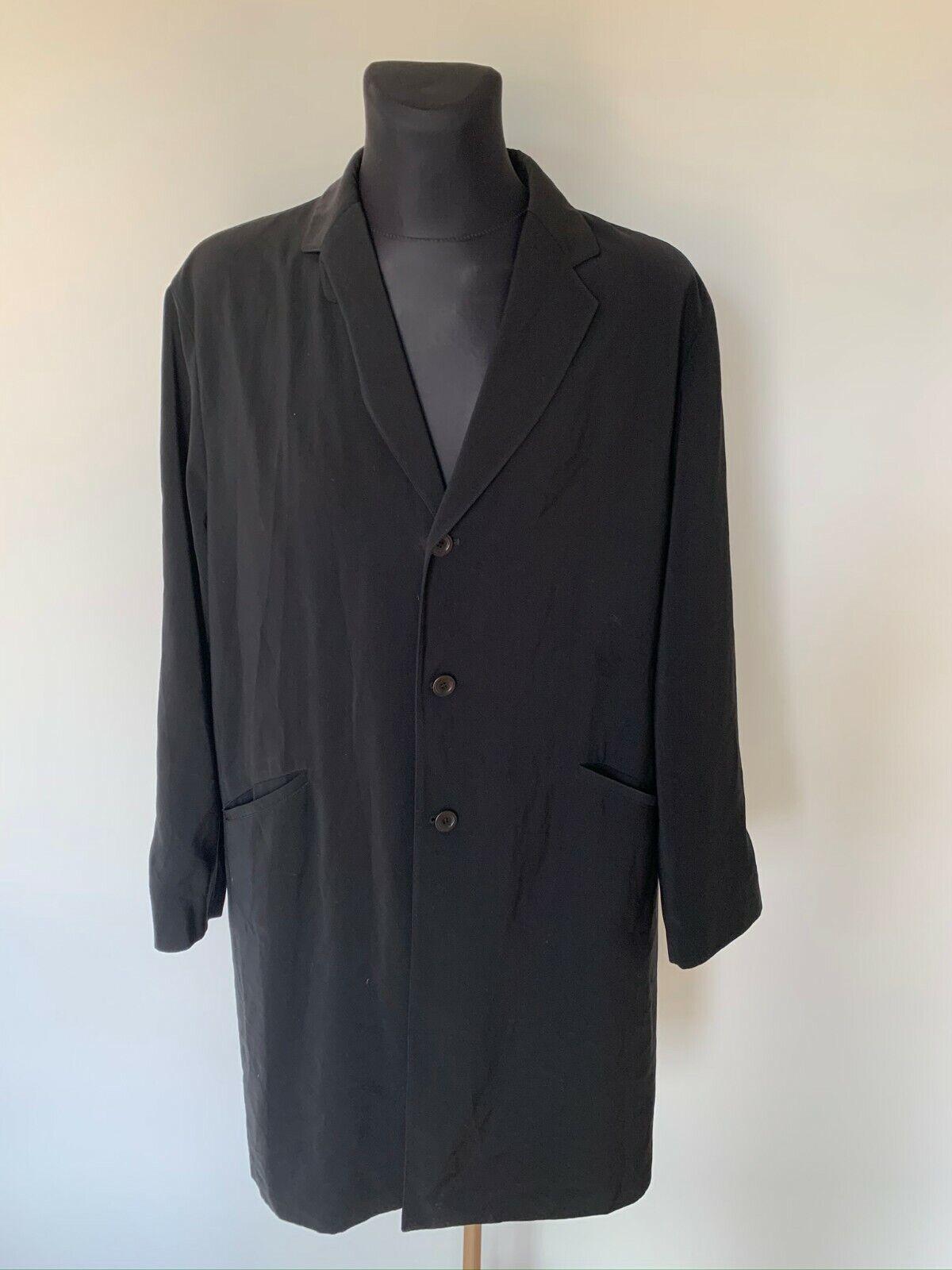 Men GIORGIO ARMANI long schwarz light coat Größe 54