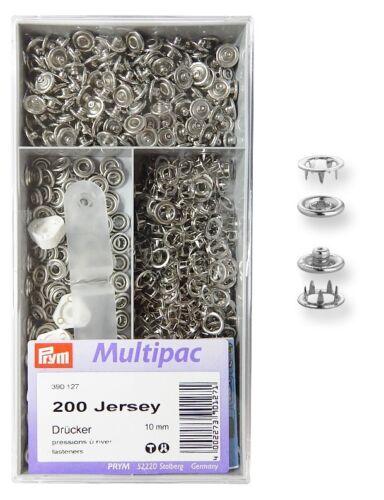 PRYM Jersey Druckknöpfe Zackenring Multipack 10mm 200St. 27.45 EUR//100 St.