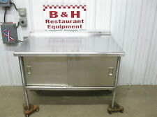 48 X 30 Stainless Steel Heavy Duty Work Table Two 2 Door Kitchen Cabinet 4