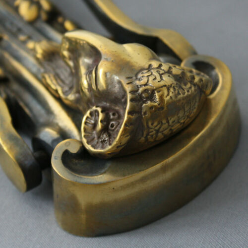 Brass Rams Head Door Knocker