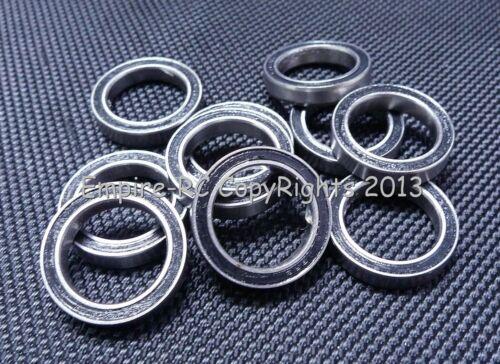 6702RS Rubber Sealed Ball Bearings Set 15x21x4 mm BLACK 25 PCS 6702-2RS
