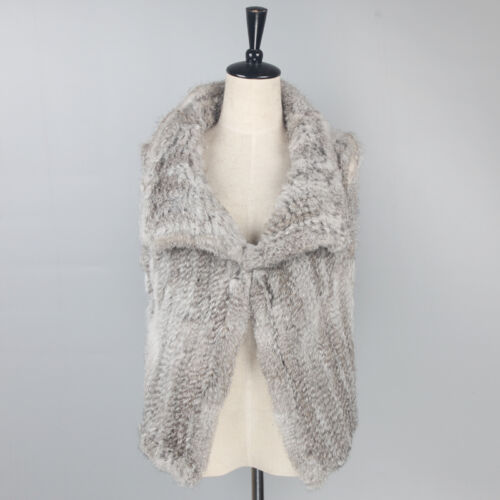 Kanin Jakke Strikket Gilet Fur Garment Vest Lady Størrelse Overcoat 2xl Waistcoat S 4x7FOq5w