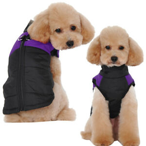 Waterproof-Small-Dog-Coat-Clothes-Purple-Pet-Puff-Jacket-for-Cold-Weather